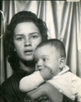 Seventeen years old with her son Bryan.